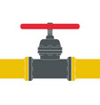 gas pipe with flange and valv vector image
