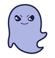ghost in cartoon style happy vector image