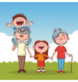 grandparents and kids vector image vector image