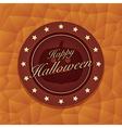 halloween emblem vector image
