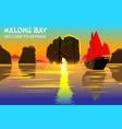 halong bay a beautiful natural wonder in northern vector image vector image