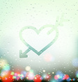 heart with an arrow painted on Sweaty Window vector image vector image