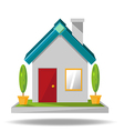 House icon cartoon vector image