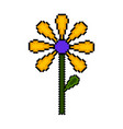 isolated pixelated flower icon vector image