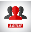 Leadership icon vector image