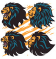 lion roar logo set collection premium vector image