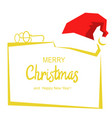 merry christmas card background with text and red vector image vector image