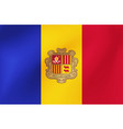 national flag andorra for sports competition vector image vector image
