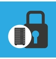 network server concept security lock graphic vector image vector image