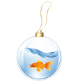 New Year Ball With GoldFish In Water vector image vector image