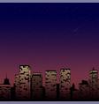 night city skyline cityscape background vector image vector image