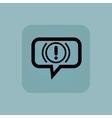 Pale blue alert message icon vector image vector image
