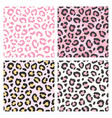 pink leopard pattern seamless animal print vector image vector image