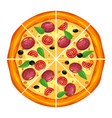 pizza slice triangles with different ingredients vector image vector image