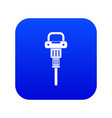 pneumatic hammer icon digital blue vector image vector image
