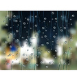 rain drops city vector image vector image