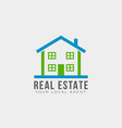 real estate logo template design vector image vector image