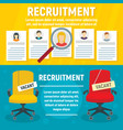 recruitment banner set flat style vector image