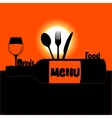 restaurant menu sunset or sunrise vector image vector image