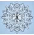 Round lace ornete vector image