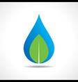 Save nature concept with waterdrop and leaf vector image vector image