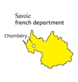 Savoie french department map vector image vector image
