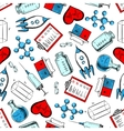 Science and laboratory research seamless pattern vector image vector image