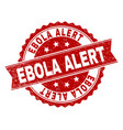 scratched textured ebola alert stamp seal vector image