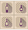 Seamless background with bottles vector image vector image