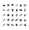 Set icons of camping and mountaineering vector image vector image