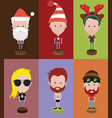 set of diverse avatars with different hairs vector image vector image