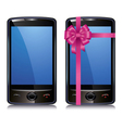 set touch screen smart phone vector image