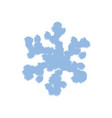 simple grunge snowflake vector image