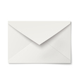 Slightly ajar opened white envelope isolated vector image vector image