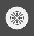 snowflake icon sign symbol vector image vector image