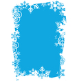 snowflakes grunge frame vector image vector image