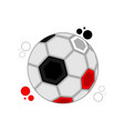 soccer ball with the colors of egypt vector image