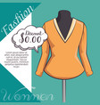 stylish woman fashion clothes vector image vector image