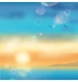 Sunset Seaside Background vector image