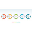 timeline infographic template of 5 circles vector image