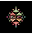 Tribal colorful logo Indian style vector image vector image