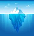 underwater iceberg flowing ice rock in ocean vector image