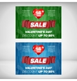 Valentine day sale banner vector image vector image