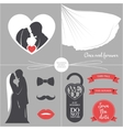Vintage wedding set of design elements vector image vector image