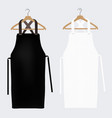 white and black aprons apron mockup clean apron vector image vector image