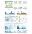 whiteboard with infocharts and infographics data vector image vector image