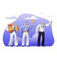 young handsome sailors at work male characters vector image vector image