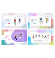 youth childhood and freedom website landing page vector image
