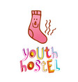 youth hostel vector image