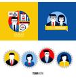 human resources business partnership teamwork vector image